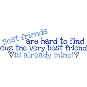 best friend - by colleen. USE!!