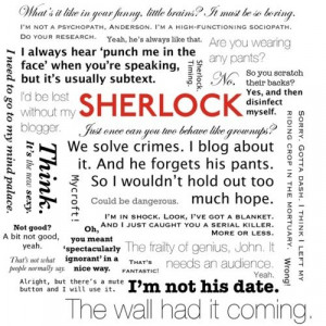 brilliant complication of quotes from the BBC's Sherlock series. It ...