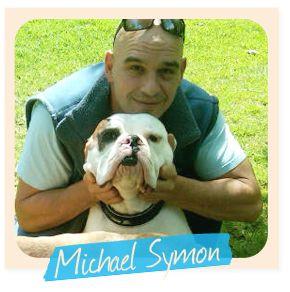 Michael Symon and his bulldog, Ozzie - Celebrity Bulldog Club