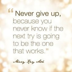 Inspirational quote from Mary Kay Ash