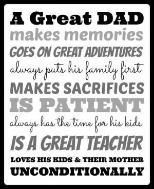 What Makes A Great Dad Printable at B-InspiredMama.com