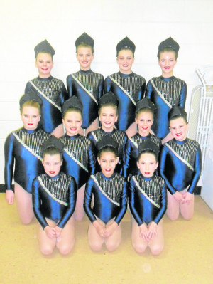 from left): back row - Claire Goodridge, Alicia McCully, Tanah Pearce ...