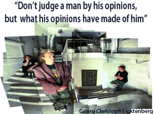 Judgment quote don't judge a man by his opinions