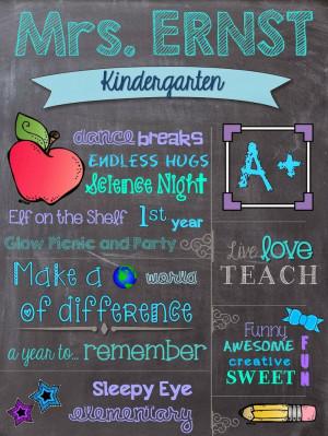 ... Successful Students: Customized Chalkboard Teacher Appreciation Gift