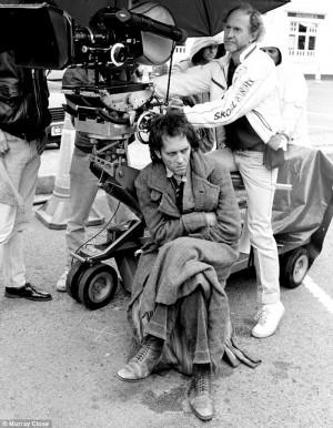 Richard E. Grant on set of Withnail & I