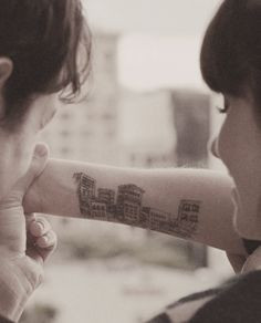 use my arm | 500 days of summer #drawing #ink #movie More