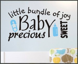 Vinyl Wall Quotes Word Art Collage Sweet Baby