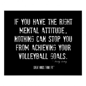 Volleyball Motivational Poster 003 - Grunge