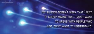 My Silence Doesn't Mean That I Quit Facebook Cover