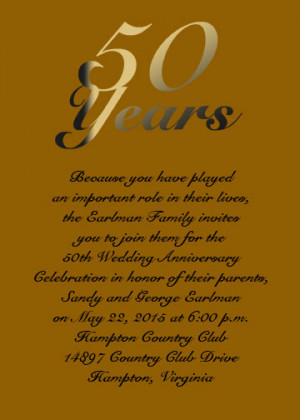 Golden Anniversary Card for Your 50th Anniversary