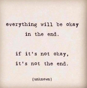 Everything is going to be ok...