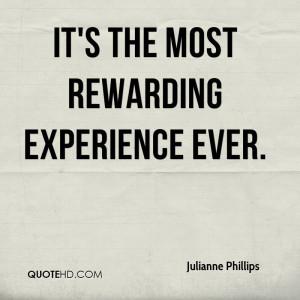 Most Rewarding Experience