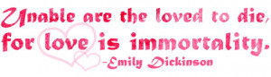 Immortal Love Emily Dickinson Quote Illustrated by Michelle Christina