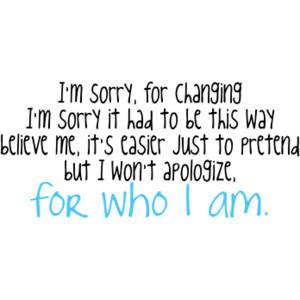 Won't Apologize // Selena Gomez & the Scene quote/lyrics // USE!