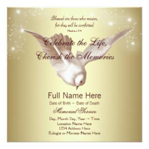 ... Gold Dove In Loving Memory Memorial 5.25