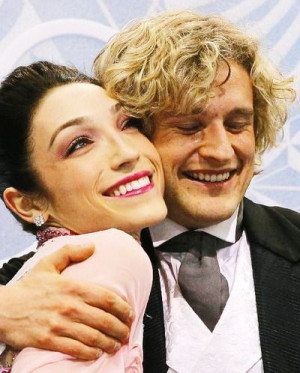 Meryl Davis and Charlie White of the United Statespete during the