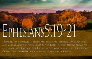 Giving Thanks Always For All Things Unto God And His Father