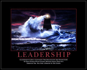 ... framed poster depicts a lighthouse and includes this inspiring quote