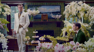 ... : Leonardo Dicaprio as Gatsby and Tobey Maguire as Nick Carraway
