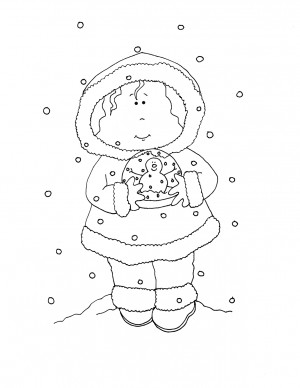 Free Dearie Dolls Digi Stamps Christmas In July Snowglobe Birdie