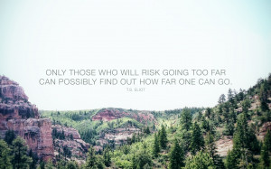 Running Quote Wallpaper Running the risk 16:10