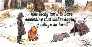 ... who has never read Winnie the Pooh , I sure am touched by this quote