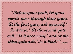 Sufi saying about speak
