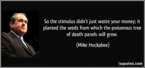 So the stimulus didn't just waste your money; it planted the seeds ...