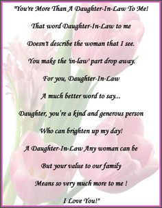 ... In Law Quotes, Beautiful Daughters In Law, Daughter In Law Quotes