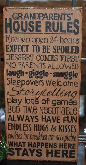funny grandparent rules