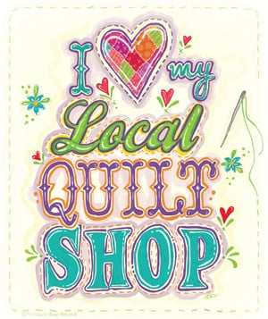 All quilters shop together – January 24th