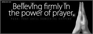 Power of Prayer Facebook Cover