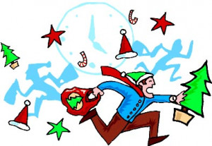 Christmas quotes about the Christmas Rush and Stress. Man running with ...