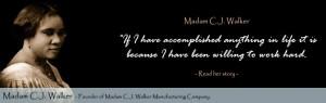 Women in History Madam C.J. Walker