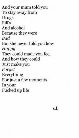 love quote Black and White life tumblr text depressed depression ...