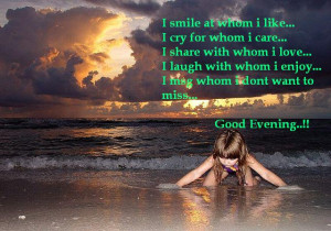 Good evening quotes,inspirational love quotes,good evening sayings ...