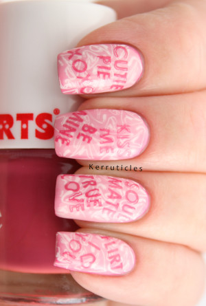 Week Of Love Valentine's Nail Art Challenge: Candy Heart Sayings