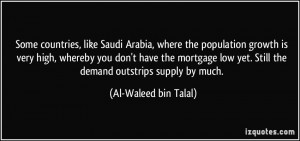 Some countries, like Saudi Arabia, where the population growth is very ...
