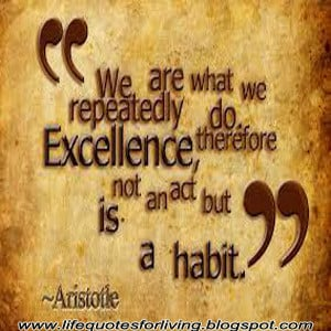 Life quotes, Excellence,