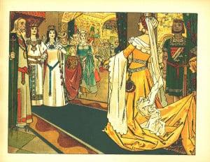 Boda de Blancanieves con el Prícipe Ilustración de Franz Jüttner ...