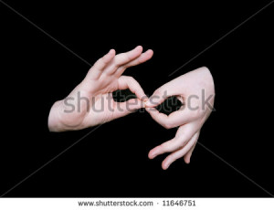 stock-photo-the-interpreting-sign-in-sign-language-on-a-black ...