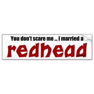 Married a Redhead Bumper Sticker
