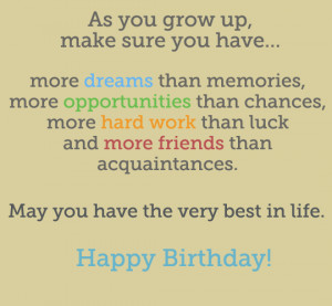 ... Boys, Birthday Quotes for a Teenager, Birthday Poems for Teenage Boys