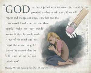 Eraser | Creative LDS Quotes #LDSQuotes #MormonLink.com # ...