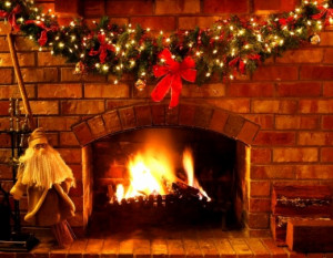 christmas fireplace christmas fireplace scenes cozy scene and ...