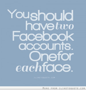 Two Facebook Accounts Faces