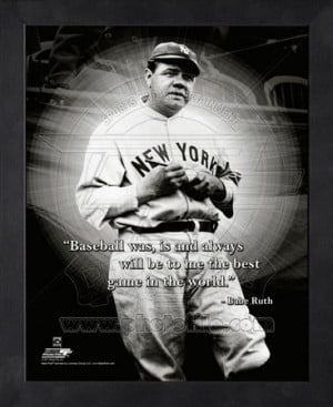 Babe Ruth ProQuote Framed Memorabilia