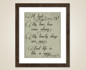 art quote - Etta James love lyrics - At last my love has come along ...