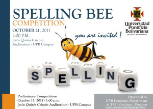spelling bee invitation template