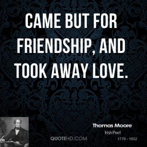 Thomas Moore Friendship Quotes